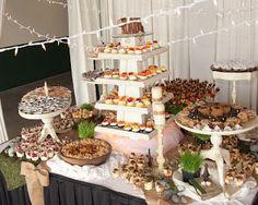 Rustic wedding dessert buffet #happyeverafter