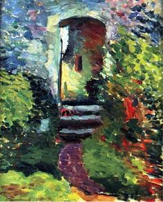 Henri Matisse - The Little Gate of the Old Mill, 1898. Oil on canvas.