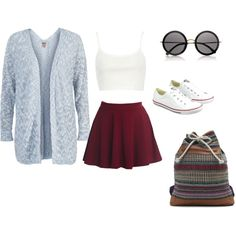 """""""Red Skirt"""" by angelicadonnelly on Polyvore"""