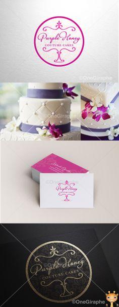Purple Honey - Couture Cakes #cake #cupcake #cake #bake #bakery #logo…