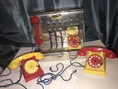 Vintage Ring And Buzz Toy Switchboard And Two Toy Phones Schwartz item W/ Box   eBay