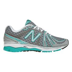 Women's New Balance 890v2 Running Shoe - Silver/Teal 7.5