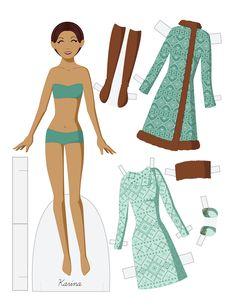 Karina vector paper doll