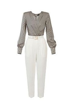 ELISABETTA FRANCHI TAILORED JUMPSUIT
