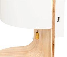 Aplique 2 luz madera y blanco ROBERT