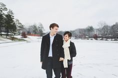 snowy engagement // w & e photographie