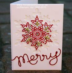 Snow Flurrys, Weihnachtskarte - Stampin Up! Anleitungen,Ideen,Produkte bestellen im Norden bei Irene Wendlandt;Stampin`Up! Demonstratorin