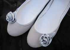 If you get basic grey flats and then add a cloth flower it super cute!