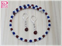 'Red White and Blue Memory Bracelet and Earrings' is going up for auction at  8pm Wed, Jul 4 with a starting bid of $5.