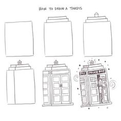 how to draw the tardis   How to draw a Tardis - Philip Tseng   Doctor    How To Draw The Tardis Easy