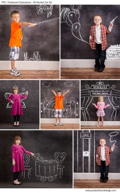 Chalkboard Expressions: All Decked Out  - Photoshop Template Overlays and Brushes