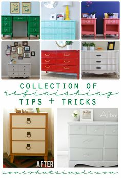 How to refinish furniture - great tips + tricks!