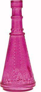 Small Fuchsia Pink Vintage Glass Bottle (cone design) by Luna Bazaar, http://www.amazon.com/dp/B004QD2WLC/ref=cm_sw_r_pi_dp_S5f5rb0VMNNY6