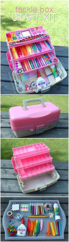 Beautiful Tackle Box Craft Kit Gift Basket - 70+ Inexpensive DIY Gift Basket Ideas - DIY Gifts - DIY & Crafts