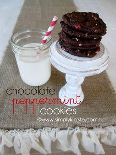 [chocolate peppermint cookies} - Simply Kierste #christmascookies