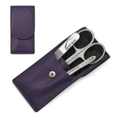 Hans Kniebes' Sonnenschein Manicure Set with crystal nail file, in Nappa Leather Case made in Germany About the product Product description Color: Purple Manicure set made in Germany by Hans Kniebes with Mont Bleu crystal na.