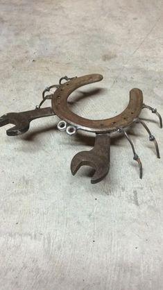 My horseshoe crab I made! My horseshoe crab I made! The post My horseshoe crab I made! appeared first on Pro. Welding Crafts, Welding Art Projects, Metal Art Projects, Metal Crafts, Diy Welding, Welding Ideas, Welding Design, Welding Tools, Diy Tools
