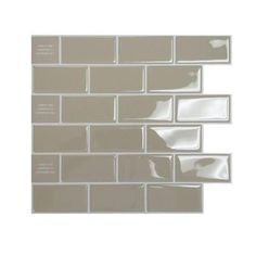 Smart Tiles 9.75 in. x 10.96 in. Peel and Stick Sand Mosaik Decorative Wall Tile in Beige-SM1022-1 - The Home Depot