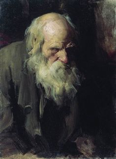 "Abram Arkhipov: ""An Old Man"",  1891, oil on canvas,  Current location: Buryatia Fine Arts Museum  (Russian Federation - Ulan-Ude)."