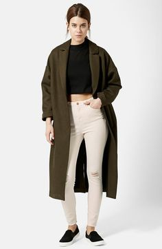 Topshop+Moto+'Jamie'+Ripped+High+Rise+Skinny+Jeans+(Cream)+(Regular+&+Short)+available+at+#Nordstrom