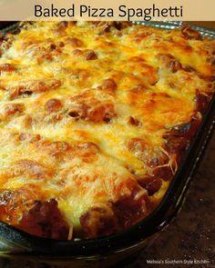 Baked Pizza Spaghetti-Melissassoutherstylekitchen