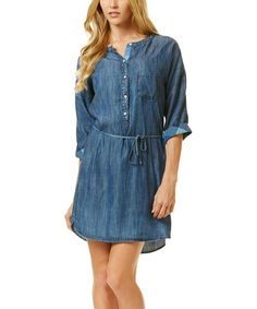 Love this Blue Chambray Button-Up Dress on #zulily! #zulilyfinds