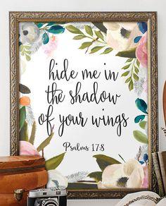 Wall art Bible Verse Art Printable Scripture by TwoBrushesDesigns #printableverses