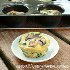 Manila Spoon: Spinach Quiche Cups, healthy breakfast on the go!
