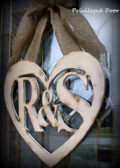Rustic Bride and Groom Wedding Wreath.  Spring Wreath. Shabby Chic Wedding Sign. BRAND NEW Primitive Princess Line.. $64.00, via Etsy.