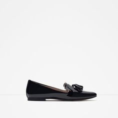 Image 1 of Glossy flat shoes from Zara