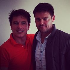 karl urban and  Barrowman - OMG Captain Jack and Karl ! It have just died and gone to heaven