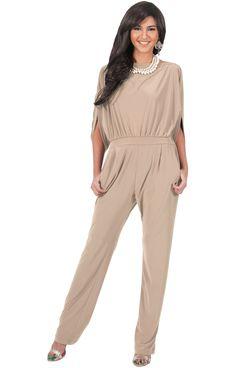 aa20744f93b0 TERESA - Dressy Jumpsuits Cocktail Batwing Sleeve Classy Formal