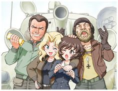 Great Works of Girls und Panzer Fan Art Kelly's Heroes, Hero Quotes, Anime Military, Twisted Disney, Tank Girl, Panzer, Manga Comics, Anime Couples, Anime Characters