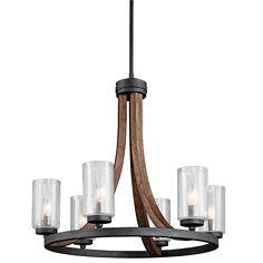 6 Light Chandelier - Grand Bank Collection - Kichler Lighting - pendant, ceiling, landscape light fixtures & more