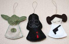 Star Wars Felt Ornaments ~ Free Pattern