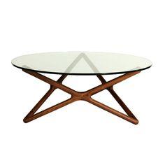 Walnut Hexagram Coffee Table | dotandbo.com