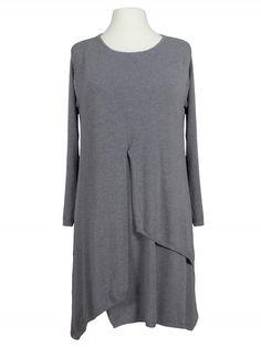 Damen Tunika Kleid Lagenlook, grau von Donnapiu bei www.meinkleidchen.de