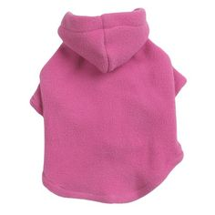 Casual Canine Polyester Basic Fleece 14-Inch Dog Hoodie, Small/Medium, Pink *** Want additional info? Click on the image. #DogHoodies