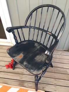 Wet-distressed with #hempoil #milkpainted #chair