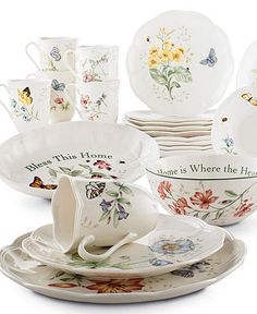 Lenox Dinnerware, Butterfly Meadow Collection - Casual Dinnerware - Dining & Entertaining - Macy's
