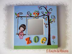 Espejito con decoupage y gomaeva cuadros y espejos - Espejo infantil ikea ...