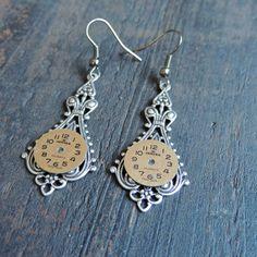 Steampunk earrings  Pendulum earrings by ellepaisley on Etsy