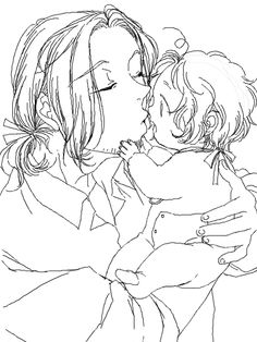 Francis and baby Matthew - Art by 鬼乃子