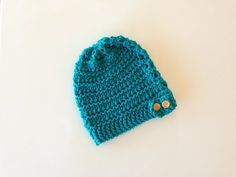How to Loom Knit a Lace Slouchy Beanie Hat with a Button Band (DIY Tutorial) - YouTube