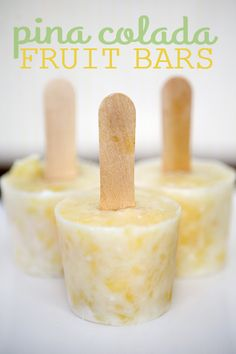 pina colada frozen fruit bars... so yummy! and perfect for summer!