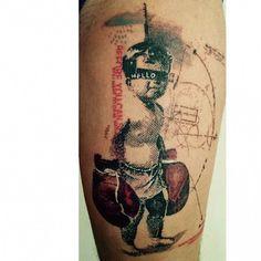 LOVE this piece by Paul Talbot #InkedMagazine #Boxer #tattoo #tattoos #Inked #ink #art
