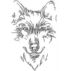 Wolf Face Skates Machine Embroidery Designs  Applique Wood Burning Patterns, Wood Burning Art, Animal Drawings, Art Drawings, Face Outline, Leather Tooling Patterns, Wolf Face, Fantasy Wolf, Small Leather Wallet