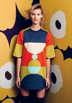 Marimekko Autumn 2014 Original y alegre African Textiles, Fashion Prints, Fashion Design, Diy Clothes, Dress To Impress, Editorial Fashion, Pop Art, Look, Girl Fashion