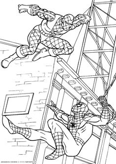 spectacular spiderman coloring pages - photo#29