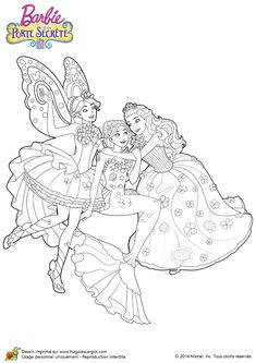 Barbie Coloring Pages 12 Dancing Princesses Page